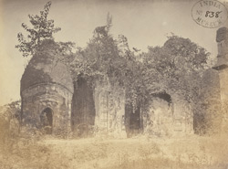 View of the ruins of the Kali Mandir at Chintarian, Devikot